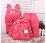 3PCS !2016 Autumn Winter Newborn Baby Clothes Set Cotton Baby Boy Clothes Winter Girl Baby Clothing Sets infant clothing - 2 Plus 1 Baby