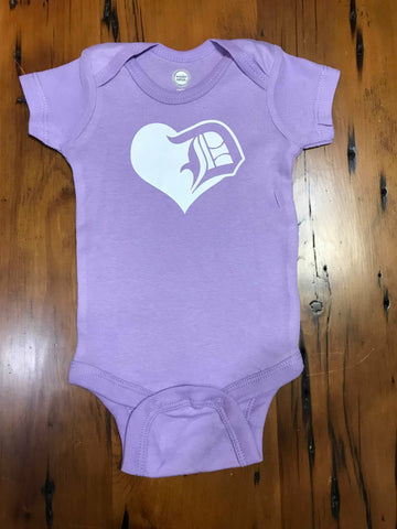 Detroit D Love Baby Girls Heart Onesie