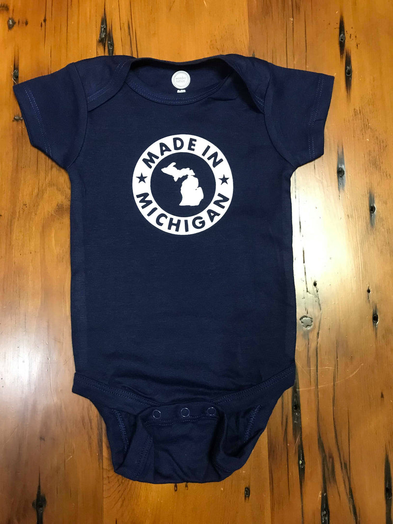 Made In Michigan Baby Boys Onesie