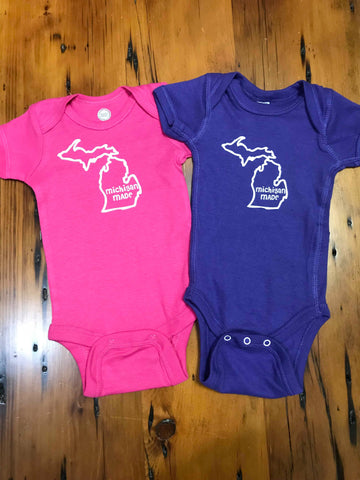 Made In Michigan Baby Onesie