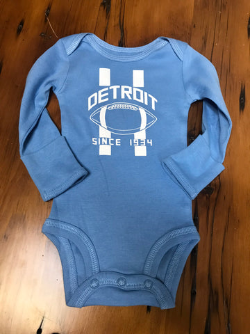 Detroit Football Lions Baby Onesie