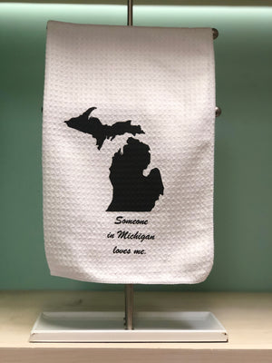 Someone In Michigan Misses You Kitchen Tea Towel