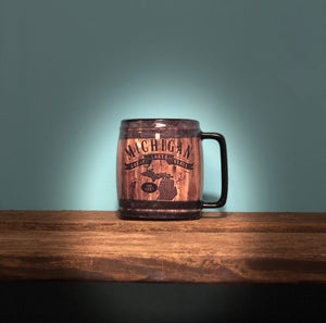 Michigan Up North Barrel Mug