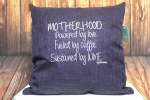 Throw Pillow (Mother Hood) Purple