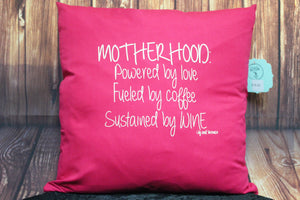 Throw Pillow (Mother Hood) Pink