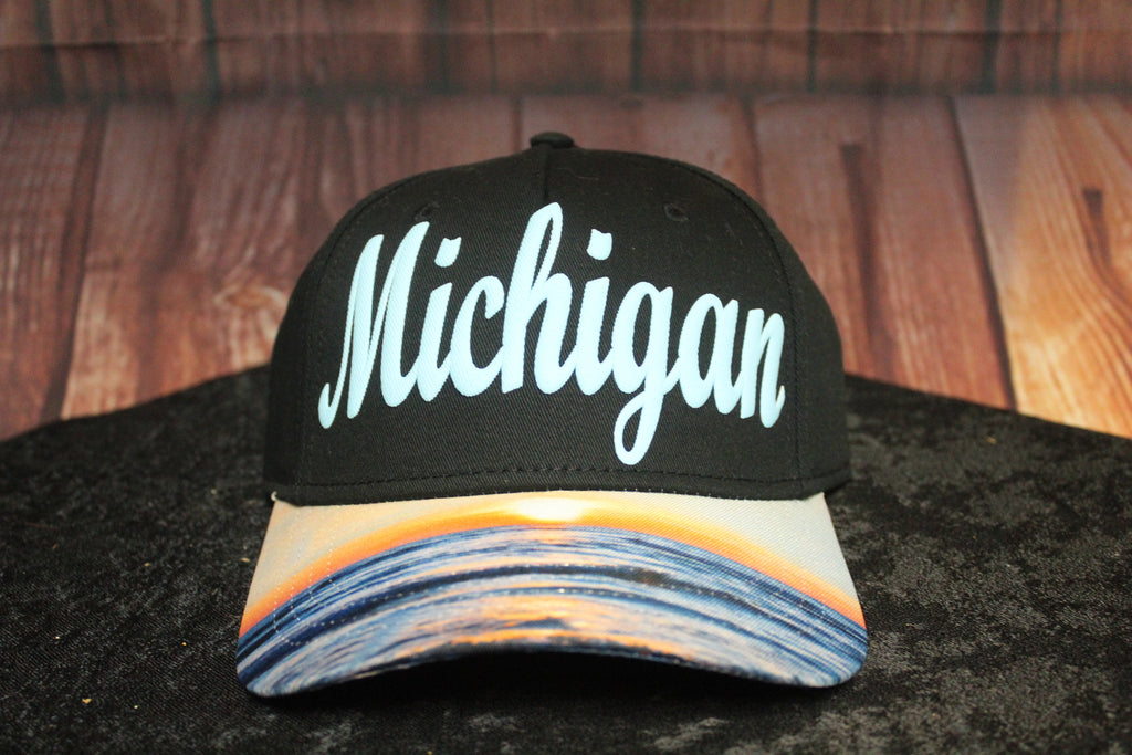 Michigan Sunset Baseball Hat