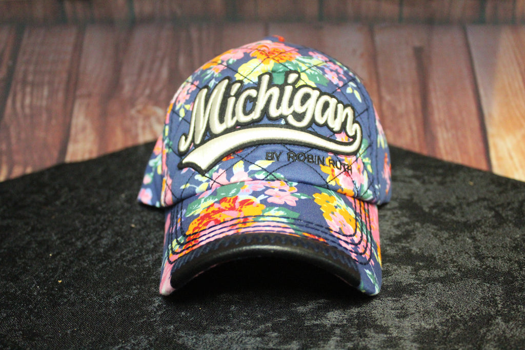 Floral Michigan Baseball Hat