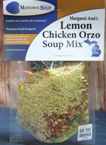 Motown Soups - Margaret Ann's Lemon Chicken Orzo Soup Mix