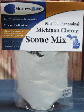 Motown Soups - Phyllis's Phenomenal Michigan Cherry Scone Mix