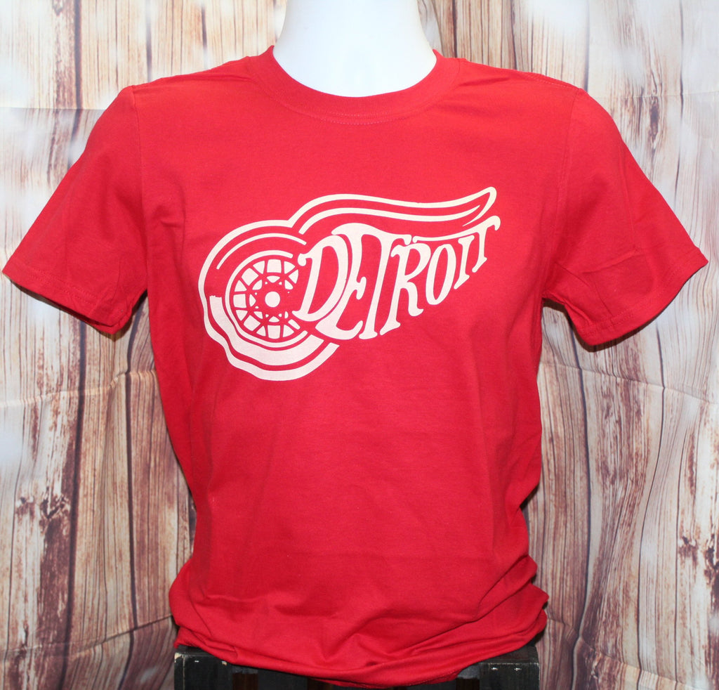 Men S Classic Detroit Red Wings T Shirt Made In The Mitten