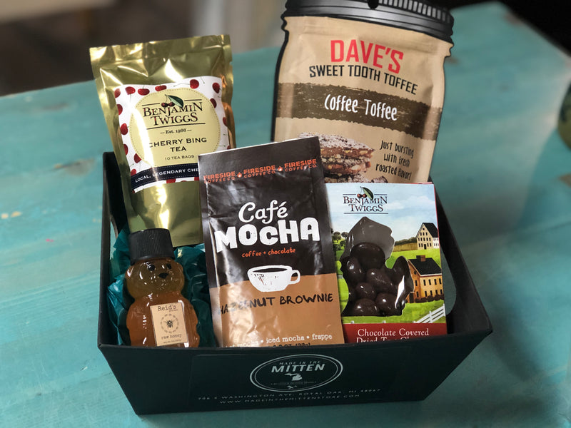 Hazelnut Chocolate Made In Michigan Gift Basket