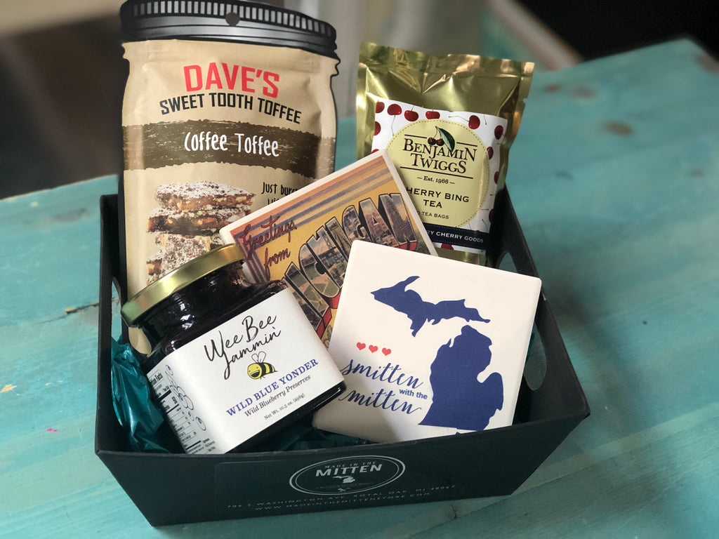 Tea and Jam Made In Michigan Gift Basket