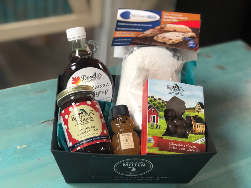 Maple Syrup and Jam Made In Michigan Gift Basket
