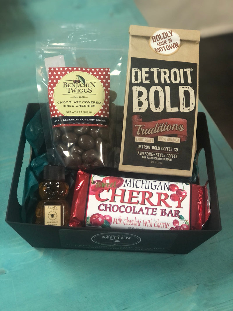 Chocolate and Coffee Made In Michigan Gift Basket