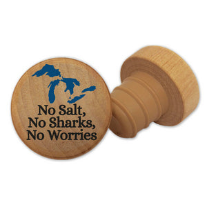 No Salt, No Sharks, No Worries Michigan Wine Stopper