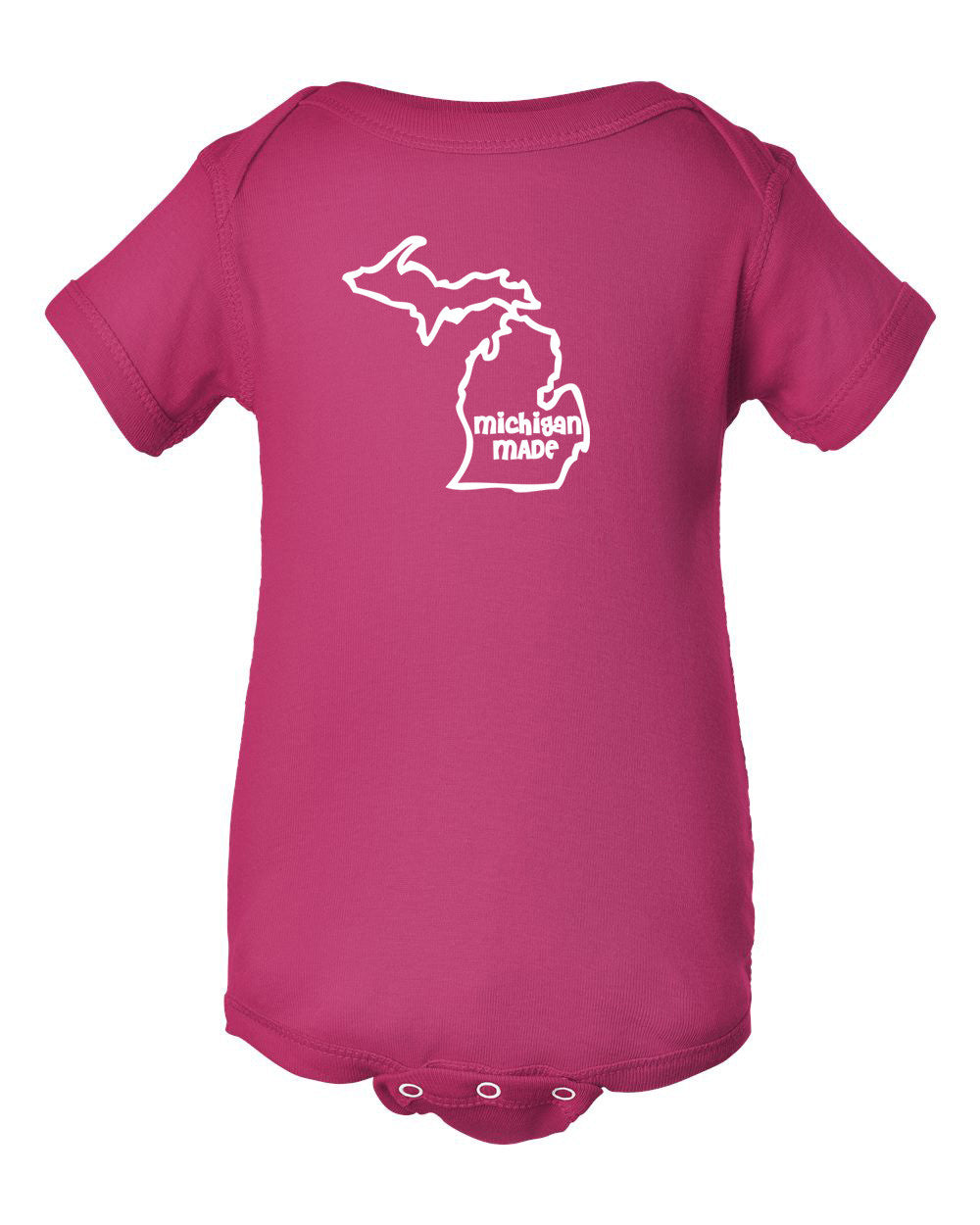 Michigan Made Outline Baby Onesie - Great Lakes Gift Co.