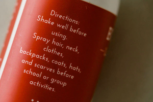 Natural Red Buggin Out Lice Prevention Spray