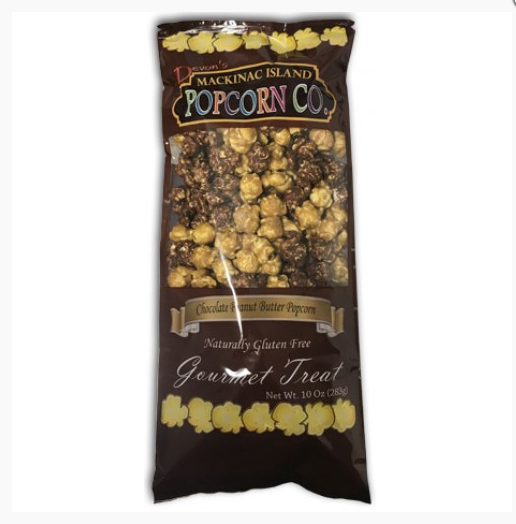 Chocolate Peanut Butter Popcorn - Mackinac Island