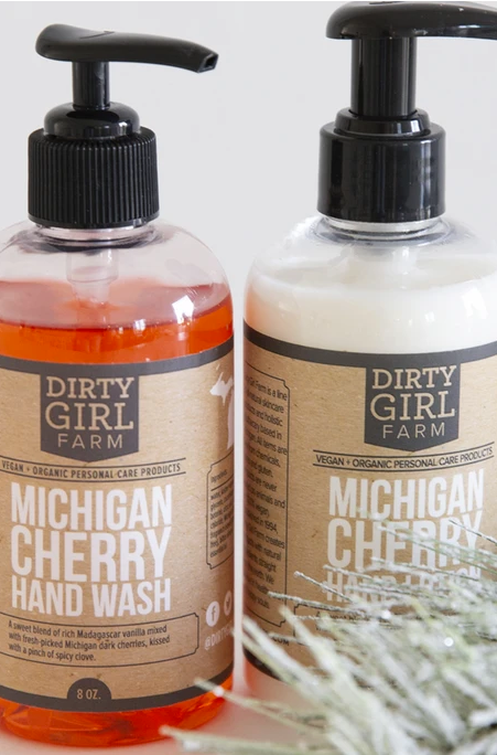 Dirty Girl Farm Michigan Cherry Wash and Lotion Set