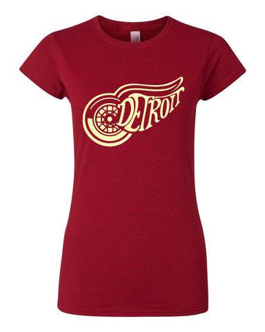 Women's Classic Detroit Red Wings T-Shirt - Great Lakes Gift Co.