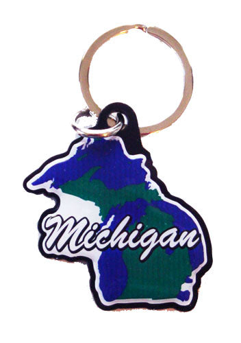 Michigan Rubber Key Chain