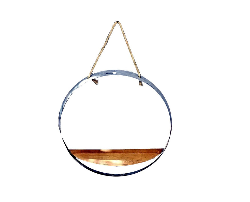 Barrel Hoop Large Shelf- Whiskey Barrel