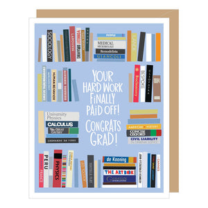 Bookshelf Graduation Card