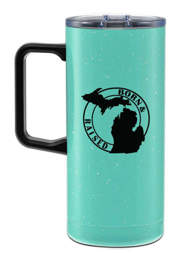 Born & Raised Travel Camp Mug - Great Lakes Gift Co.