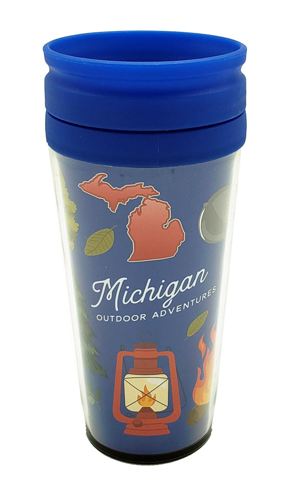 Michigan Travel Camping Outdoor Adventure Coffee Mug
