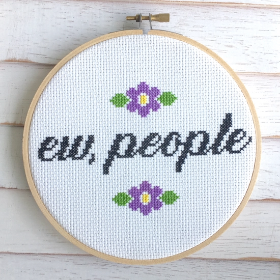 Ew, People Cross Stitch Kit