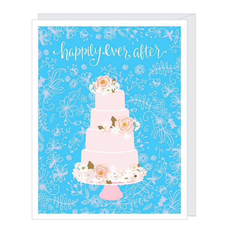Wedding Cake Greeted Wedding Card