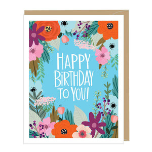 Happy Birthday Beautiful Floral Greeting Card