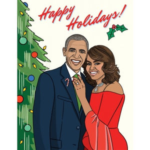 The Obama's Holiday Christmas Greeting Card