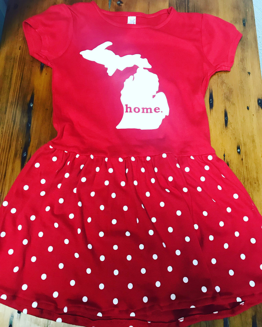 Michigan Home Toddler Polka Dot Dress