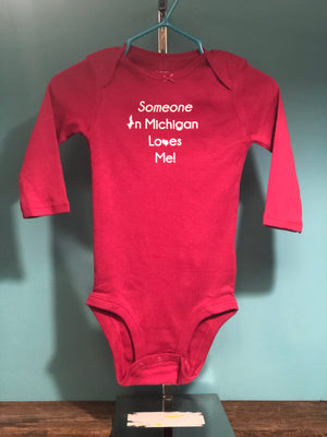 Someone in Michigan Loves Me Baby Bodysuit