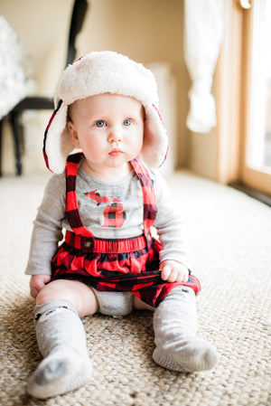 Buffalo Plaid Michigan Baby Onesie