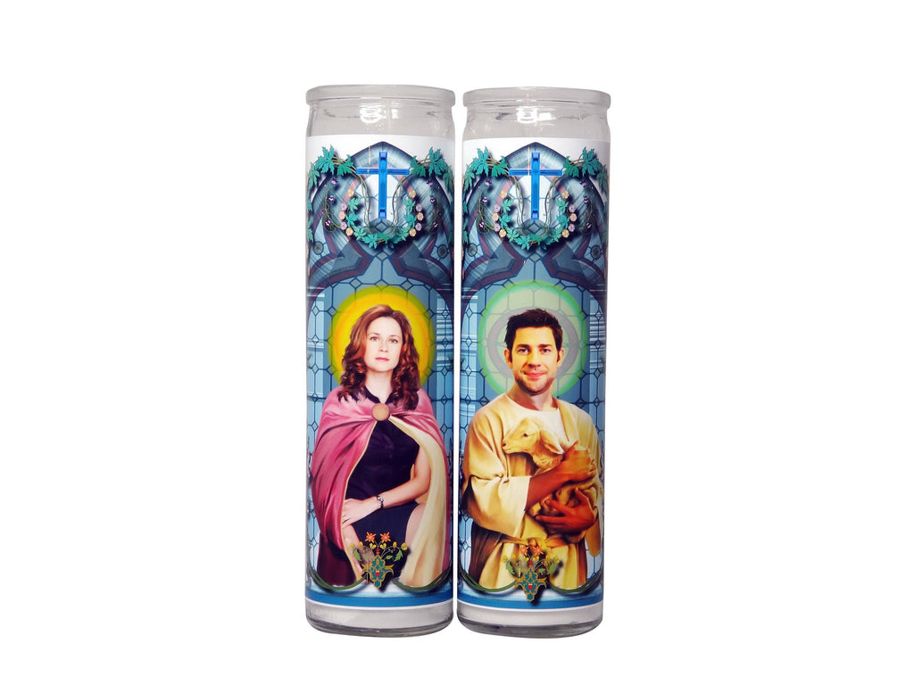 Jim And Pam Celebrity Prayer Candle Set - The Office