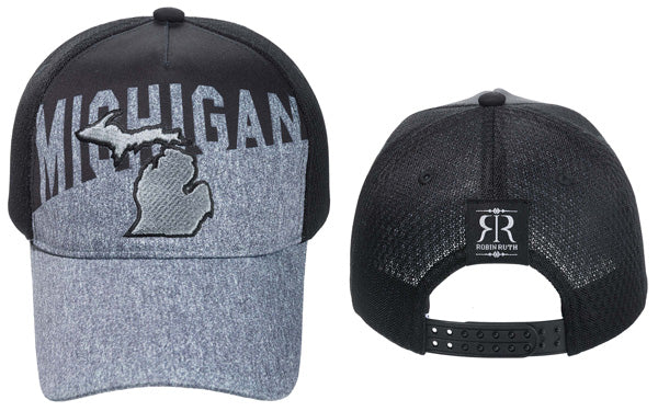 Men's Michigan State Grey / Black Outline Hat