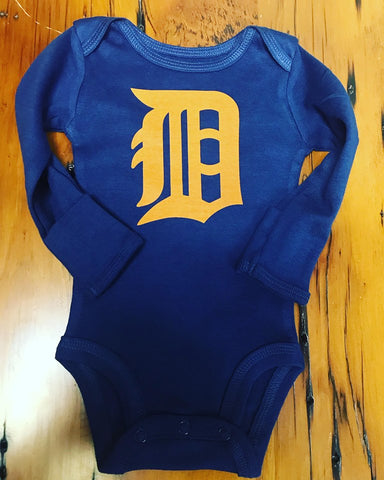 Detroit Tigers Old English D Onesie