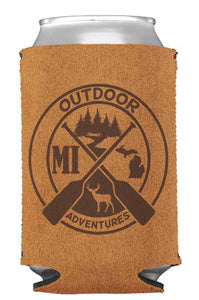 Michigan Outdoors Adventure Suede Can Cooler