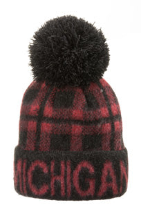 Michigan Buffalo Plaid Winter Hat