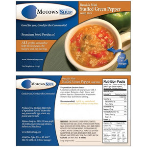 Motown Soup Stuffed Green Pepper Soup