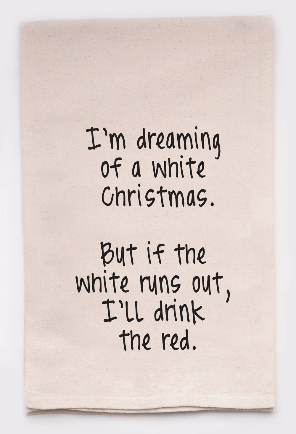White Christmas Kitchen Tea Towel