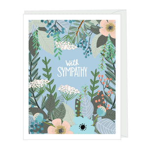 With Sympathy Beautiful Floral Greeting Card
