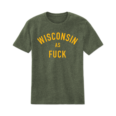 Men's Green Wisconsin AF Tee