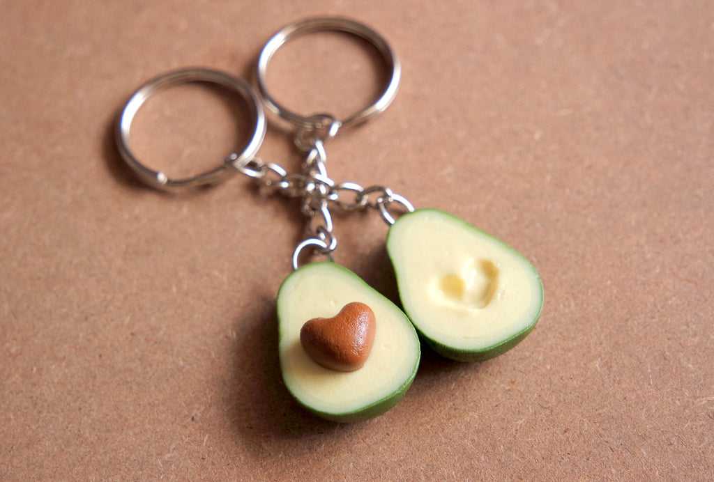 Avocado Keychain Set