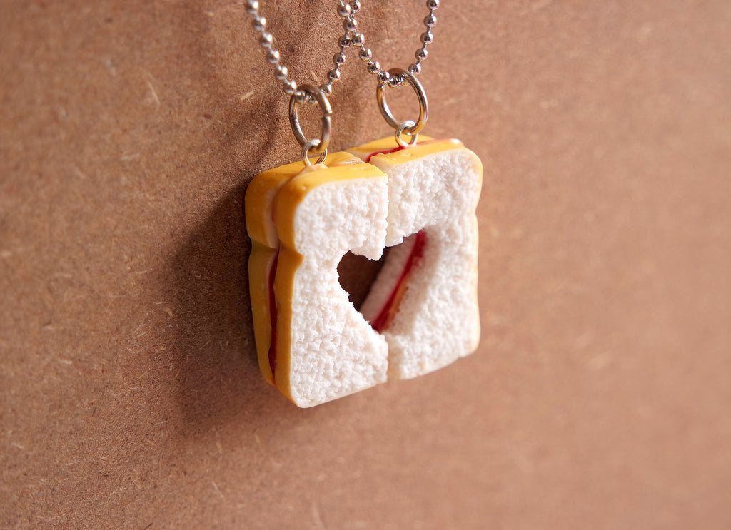 Peanut Butter and Jelly Necklace Set