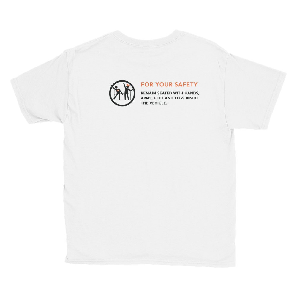 For Your Safety White Short-Sleeve Youth T-Shirt