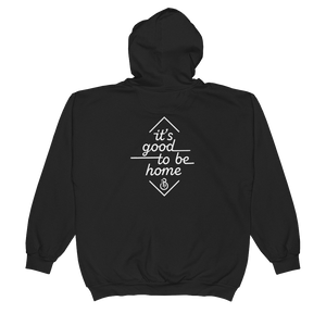 """It's Good to Be Home"" Unisex Zip Hoodie"
