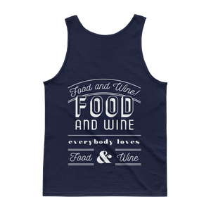 Food and Wine Unisex Tank Top